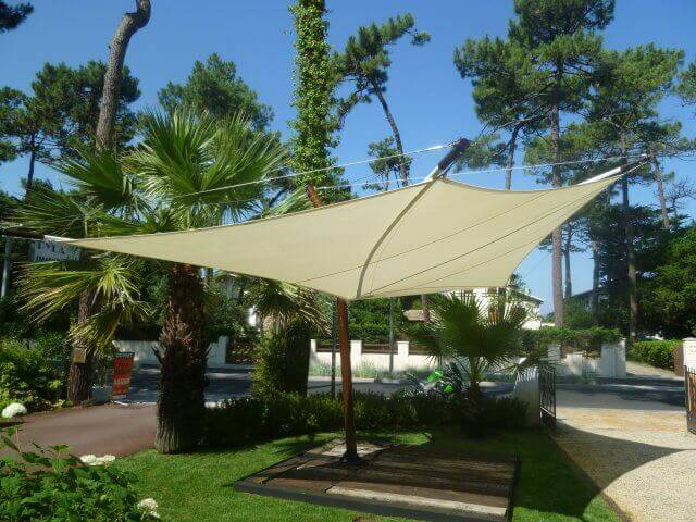 voile d'ombrage rectangulaire - voile d'ombrage fête - shade sail